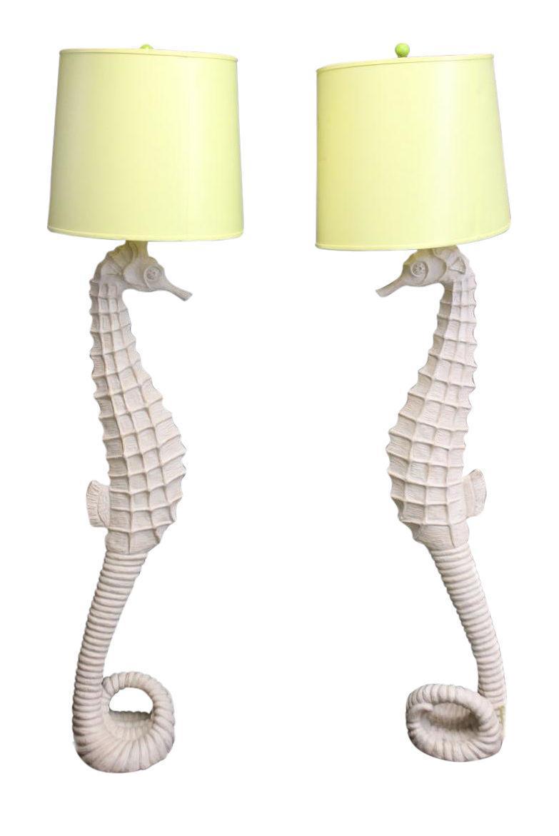 Driftwood Seahorse Floor Lamps - A Pair | Driftwood seahorse ...