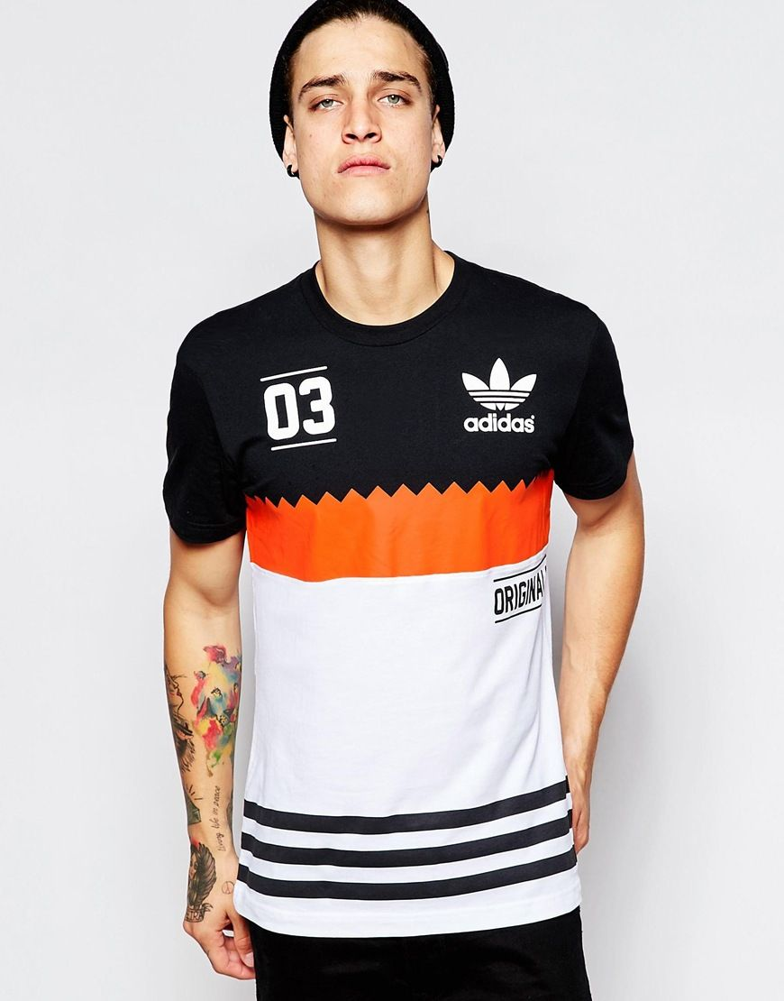 release date: b70e5 c3cd6 Imagen 1 de Camiseta en colour block de Adidas Originals