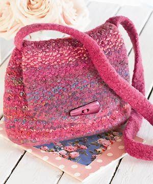 Free Pattern Knit And Felt Saddle Bag