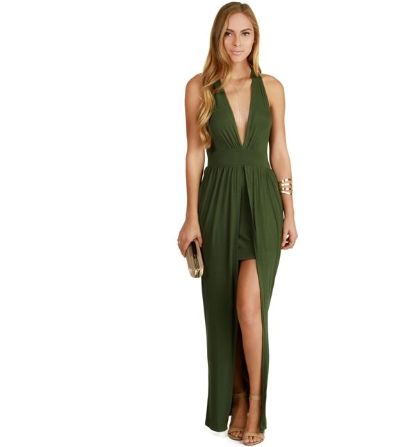 Olive With a Twist Maxi Dress preferably in another color
