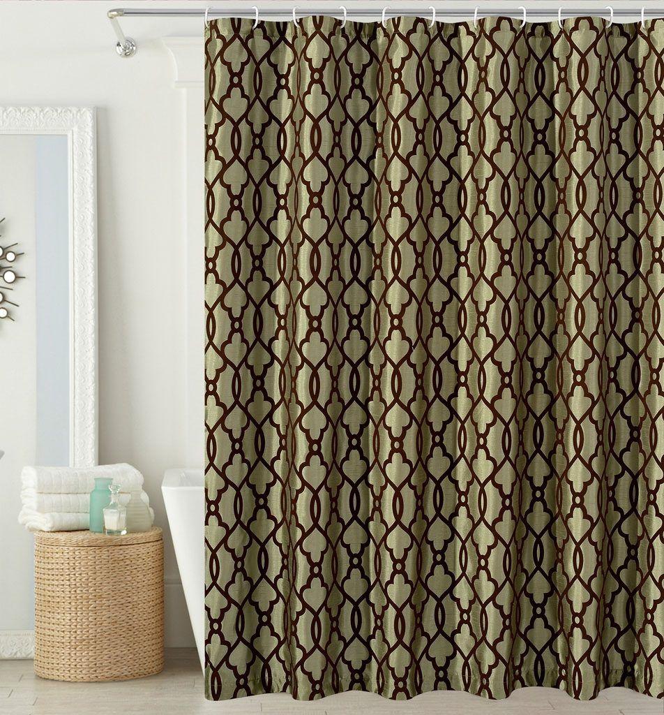 Faux Silk Shower Curtains | Shower Curtain | Pinterest | Bathroom
