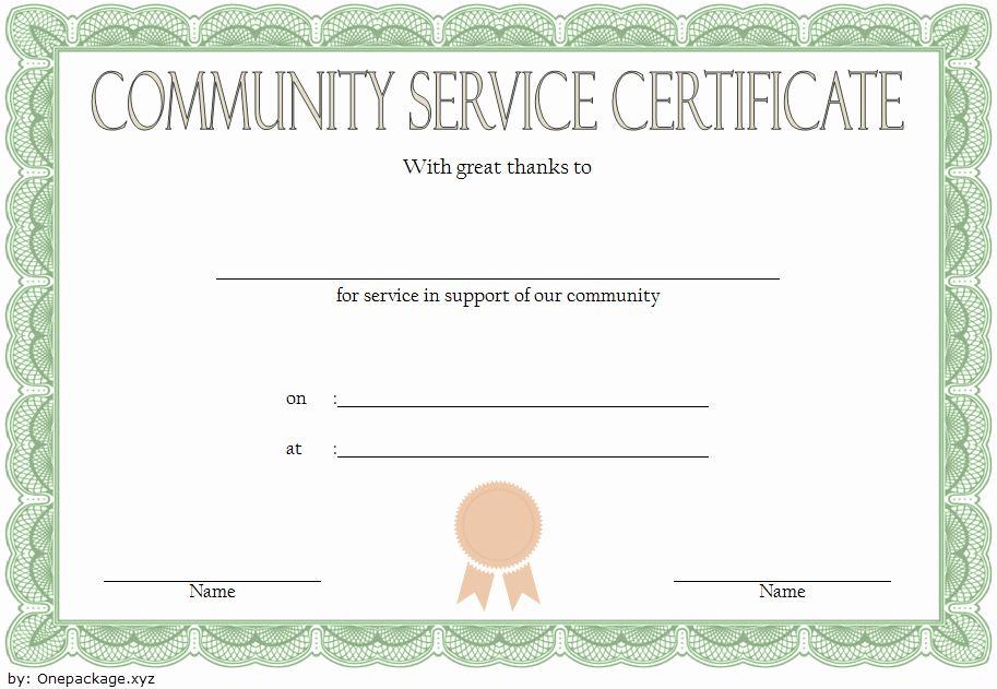 Community Service Hours Certificate Template Inspirational Munity Service Hours Certificate Tem Community Service Hours Certificate Templates Community Service