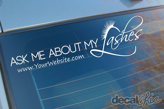 For younique representatives free shipping ask me about my lashes custom car decal by decalchic