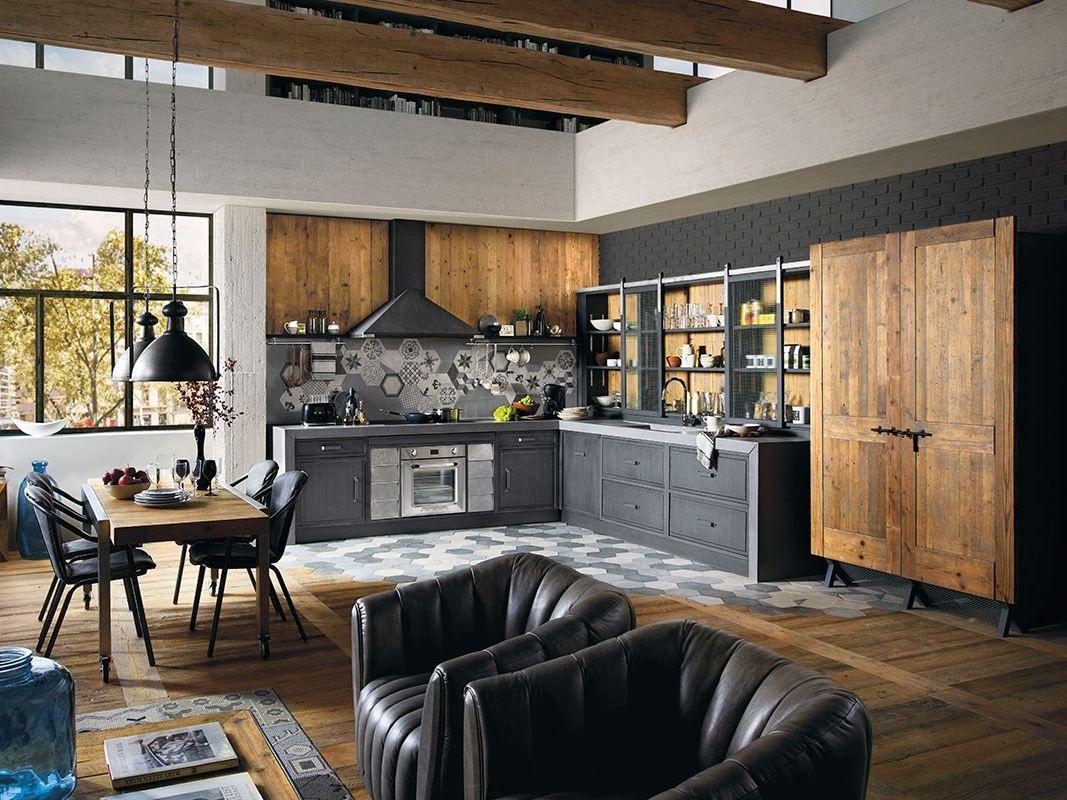 Cucina componibile in legno massello BRERA 76 by Marchi Cucine ...