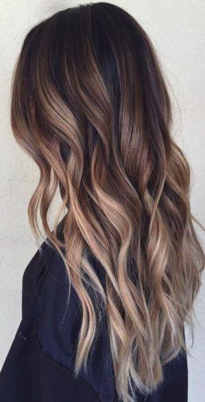 Haarfarbe Braun Mit Blonden Spitzen Haare Balayage
