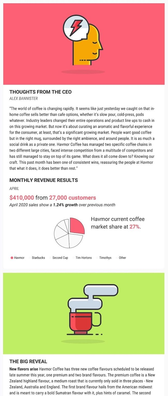 47 Engaging Email Newsletter Templates, Design Tips & Examples For 2020 is part of Email newsletter template, Newsletter templates, Email promotion template, Business newsletter, School newsletter template, Email newsletter design - A person will receive about 88 emails per day  Learn how to create one of the emails they actually read using these 45 email newsletter templates & tips