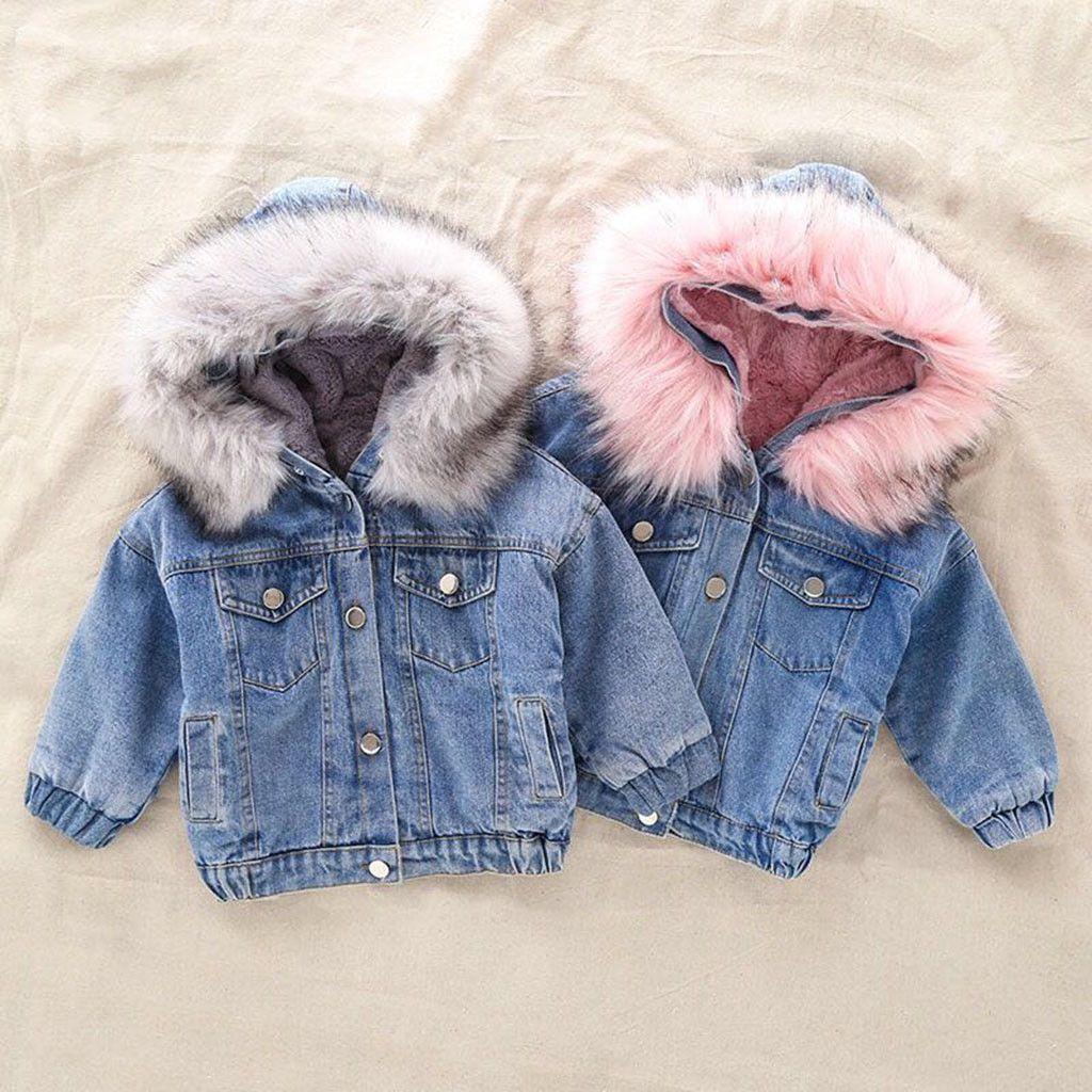 2020 New Denim Jacket For Girl S Toddler Children Autumn Winter Outerwear Fashion Outfits Kids Jacket G Girls Winter Jackets Kids Outerwear Girls Jackets Kids [ 1024 x 1024 Pixel ]
