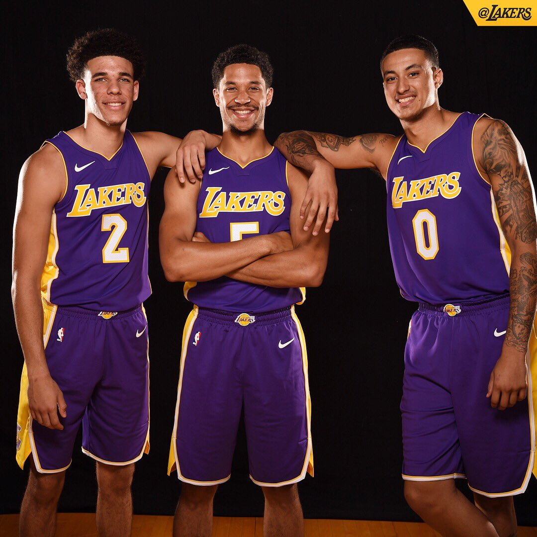 Nba Basketball Los Angeles Lakers: Lonzo Ball, Josh Hart, Kyle Kuzma