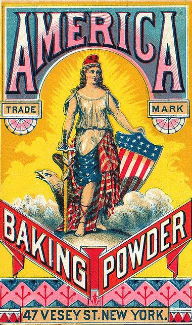 Vintage Poster - Americana - America Baking Powder - Laundry - Kitchen - household - Cleaning - Cooking