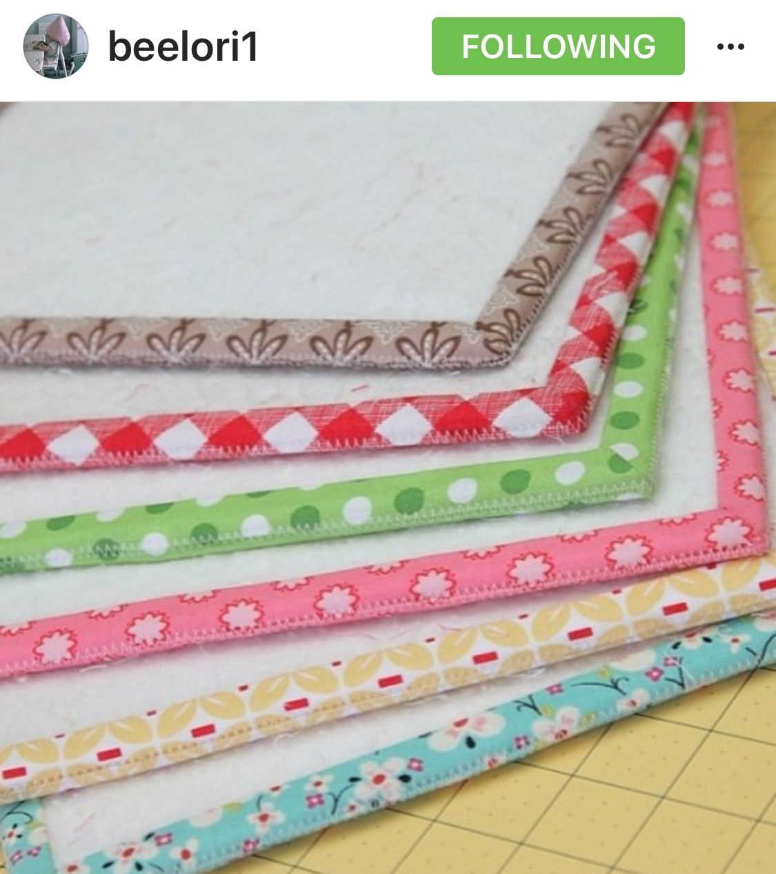 Darling Lori Holt's handmade sewing/quilting mat's!