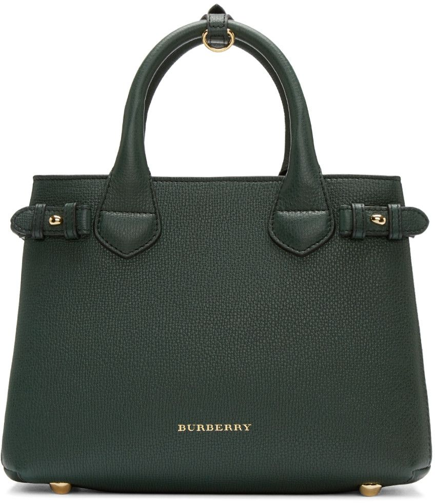 Burberry Green Small Banner Tote Bag Modesens Burberry Tote Bag Burberry Purse Zipper Tote Bag