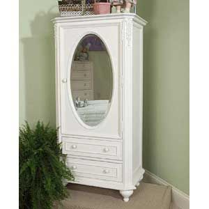 Attrayant Enchantment Victorian White Wardrobe With Mirror Door By Legacy Classic    AHFA   Chest With Doors