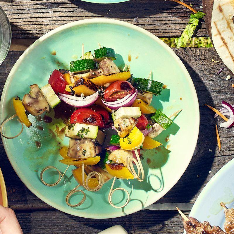 Szaszlyki Warzywne Bezmiesne Przepis Recipe Grilling Food Cobb Salad