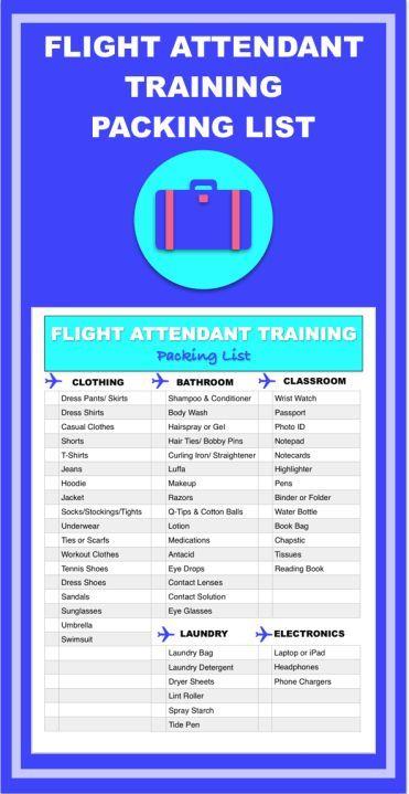 flight attendant packing list for training | Flight ...