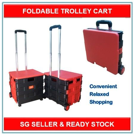 Multifunctional Foldable Trolley Bag With Wheels Portable Shopping Cart Utility Wagon Cart Rolling Travel C Portable Shopping Cart Trolley Cart Wagon Cart