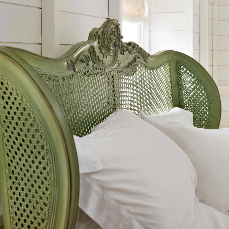 Floral Caned Bed | Painted Finish | Bedrooms | Pinterest | Muebles ...