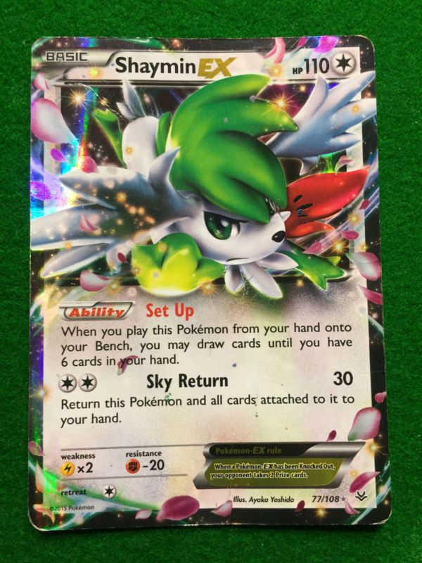Pokemon SHAYMIN EX 77//108 ULTRA RARE NM CARD   ROARING SKIES