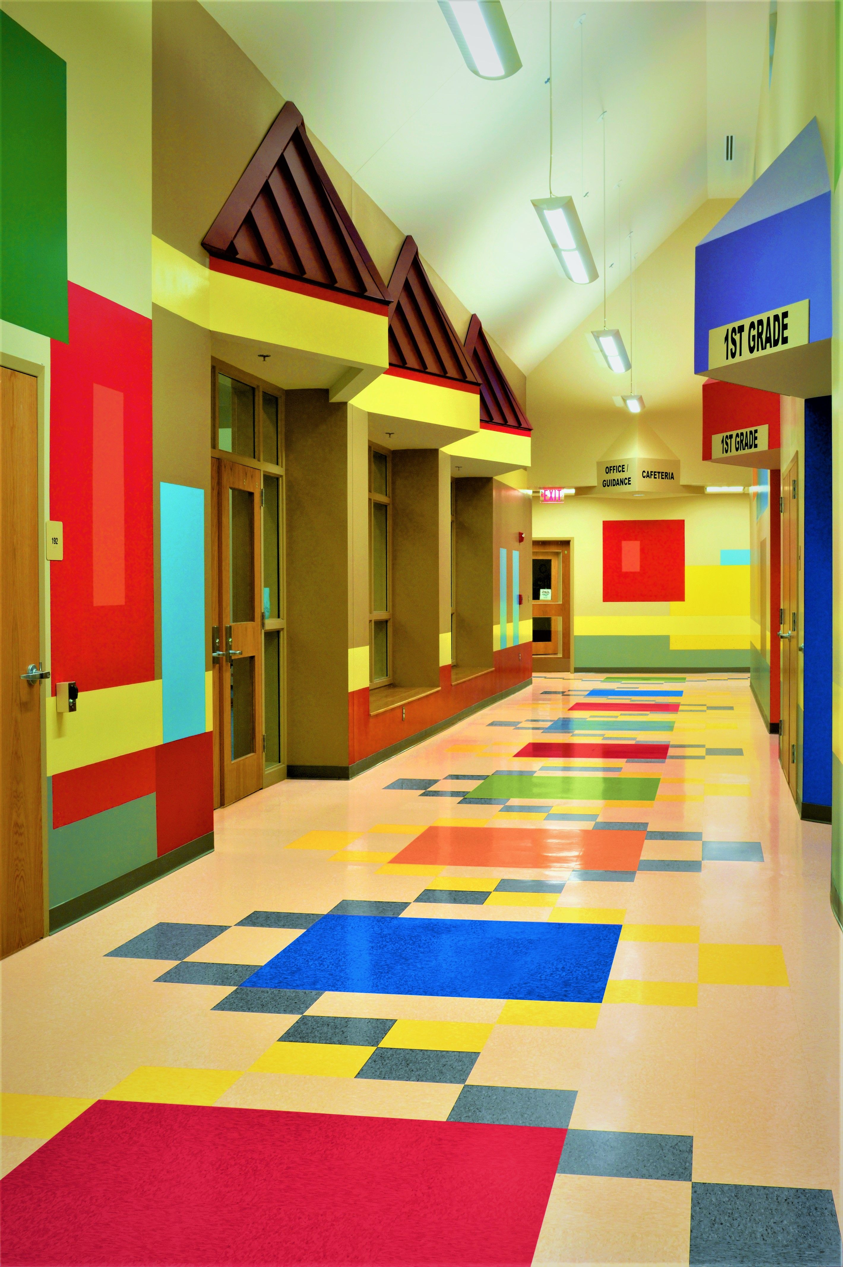 Elementary School In Us Making The Flooring Fun For The