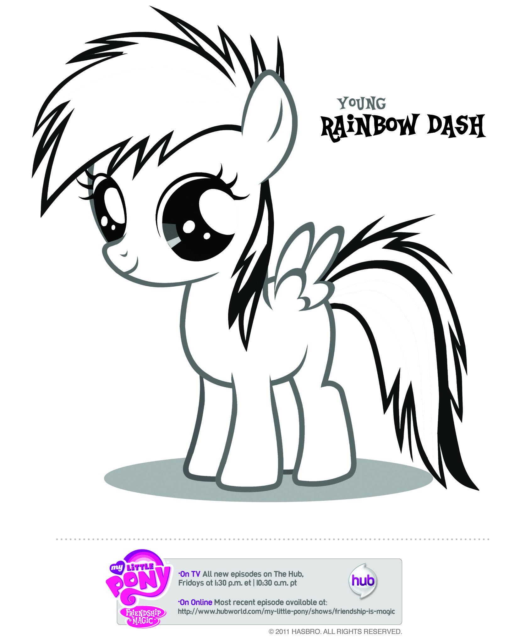 Mlp Young Rainbow Dash My Little Pony Coloring My Little Pony Baby Coloring Pages
