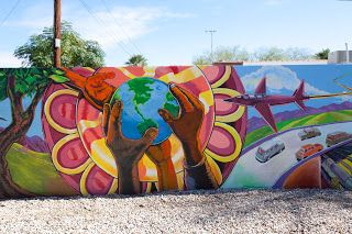 Community Mural Piece Street Guerrilla Art School Murals