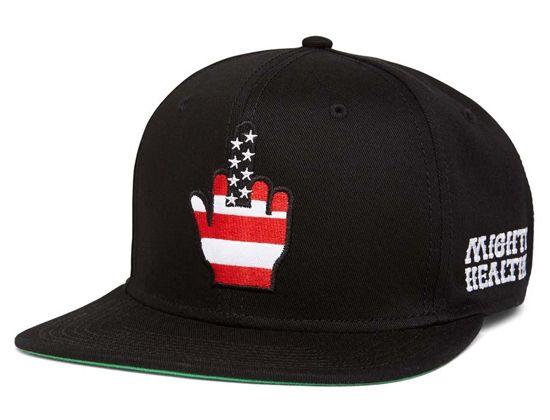 Finger Flag Snapback Cap by MIGHTY HEALTHY  2de747ed0927