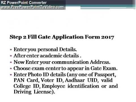 How to Fill Gate Online Application Form 2017 Simple Procedure - simple application form