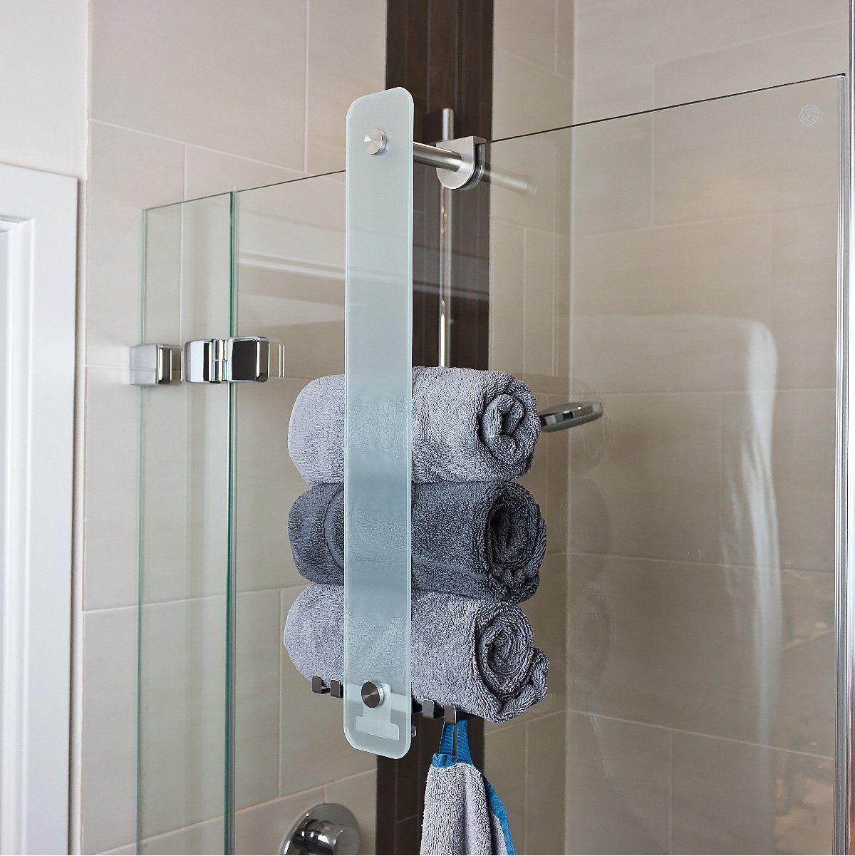 Bremermann Badserie Piazza Edelstahl Glashandtuchhalter Regale Furs Badezimmer Badezimmer Dekor Badezimmer