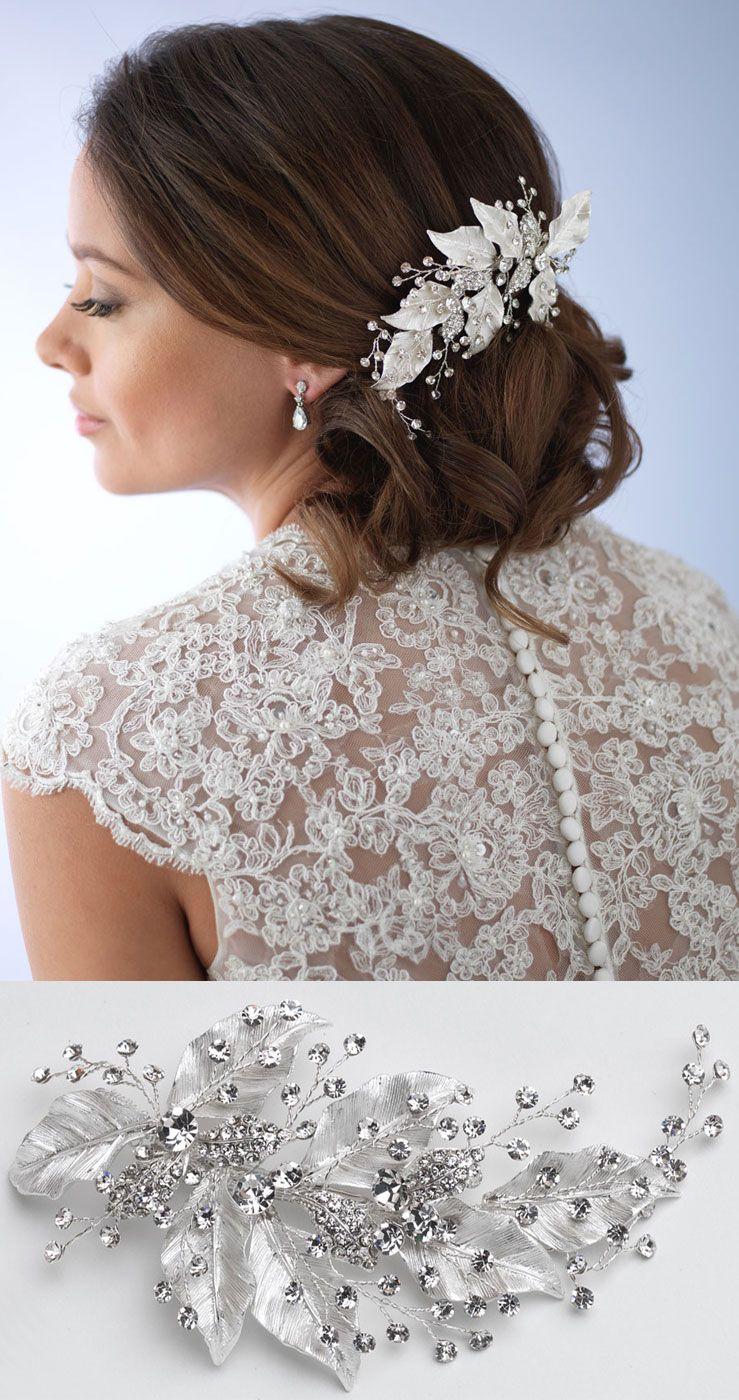 malina leaf bridal clip | wedding accessories, weddings and wedding