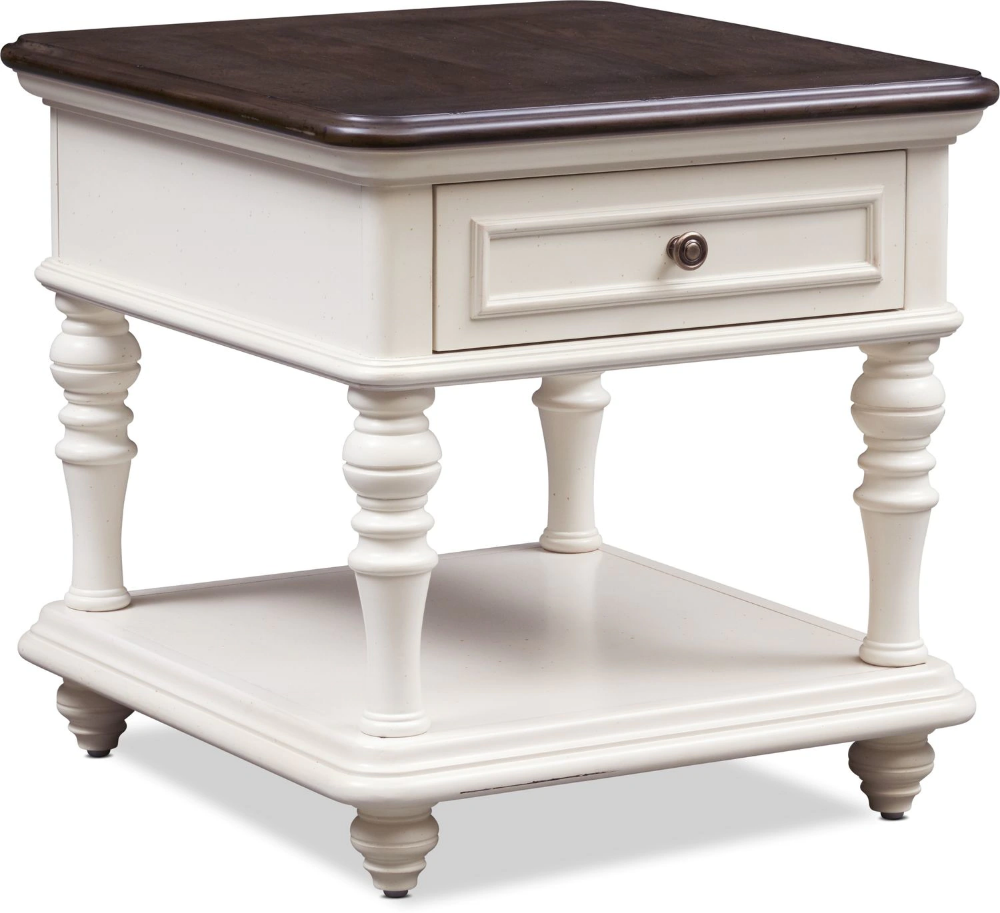 Charleston End Table White in 2020 End tables, Value