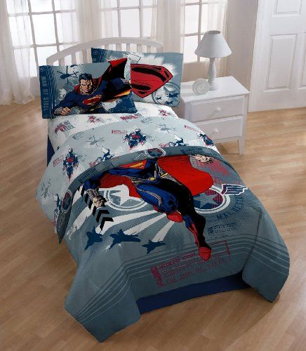 Dc Comics Superman 4pc Twin Bedding Set Man Steel Superhero