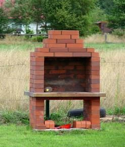 build a grill | Who wouldn't like to spend a warm romantic ... on Simple Outdoor Brick Fireplace id=82242