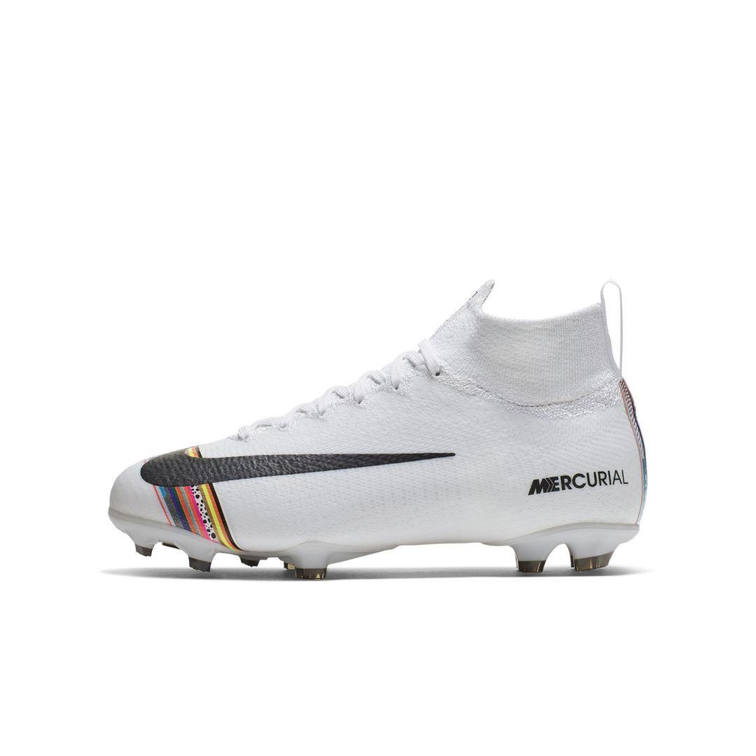 8a5298f7078 Nike Jr. Superfly 6 Elite LVL UP FG Little Big Kids  Firm-Ground Soccer  Cleat Size 5.5Y (White)