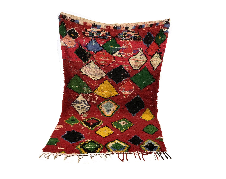 Boujaad Rug Moroccan Rug Vintage Beni Ourain Rug Teppich Marokko Berber Carpet Wollteppich Alte Teppiche Pink Moroccan Rugs Moroccan Rug Beni Ourain Rugs