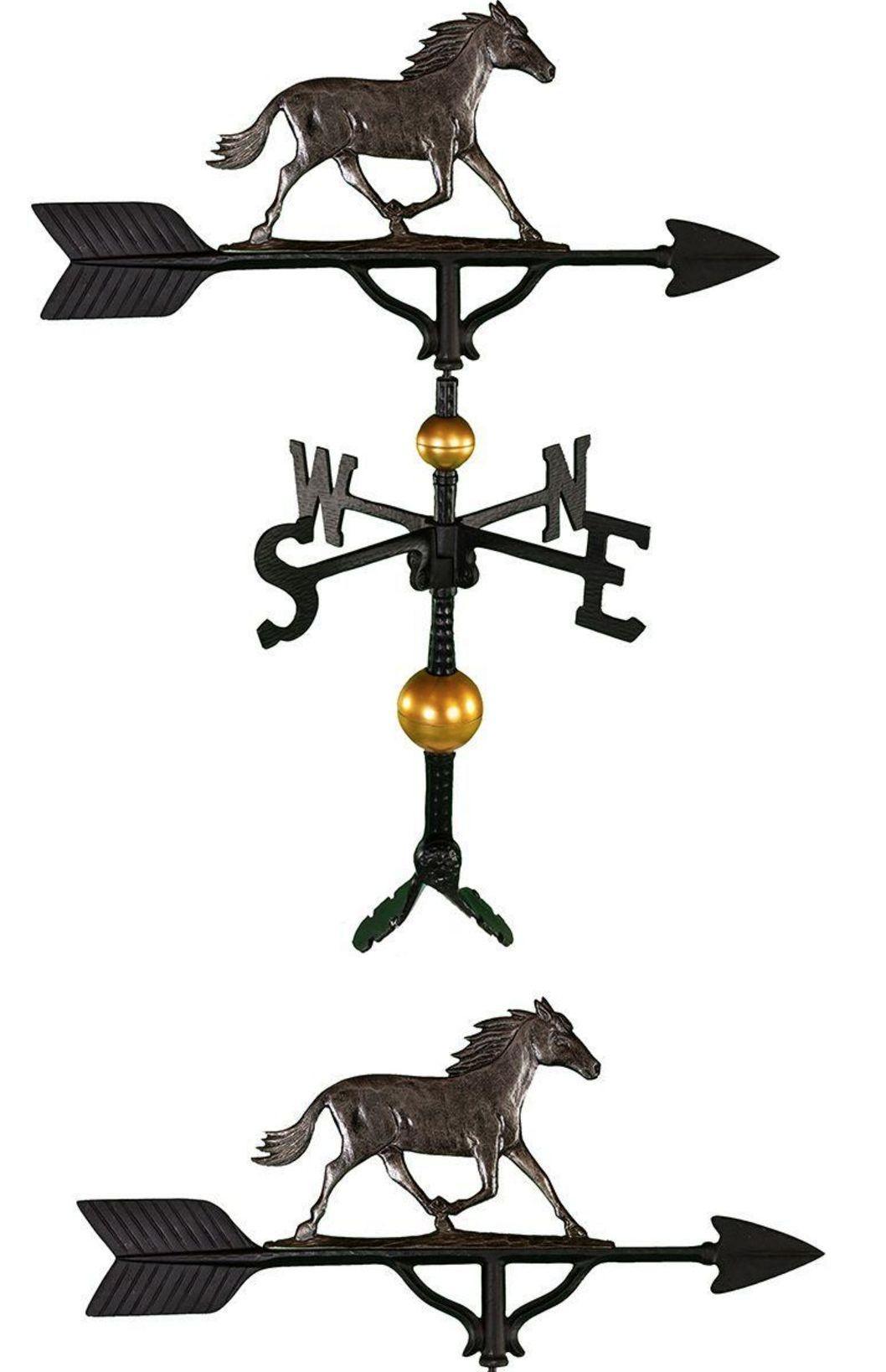 Weathervanes 20512: 32 In. Horse Weathervane Roof Mount Weather Vane Weather Resistant Garden Decor -> BUY IT NOW ONLY: $88.26 on eBay!