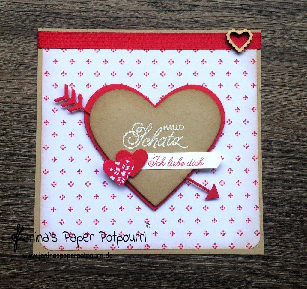 Jpp   Karte Herz / Amors Pfeil / /card / Heart / Valentineu0027s / Valentinstag  / Liebe / Sneak Peek / OnStage 2016 / Schauwand Designer / Display Stamper  ...