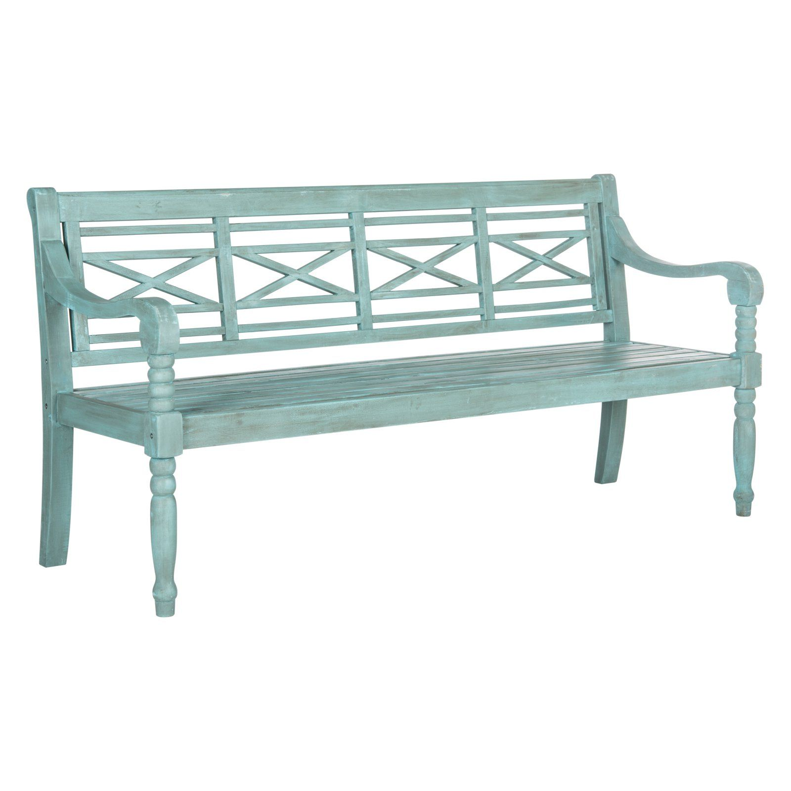 Surprising Safavieh Karoo 70 In Acacia Wood Cool Blue Outdoor Bench In Onthecornerstone Fun Painted Chair Ideas Images Onthecornerstoneorg