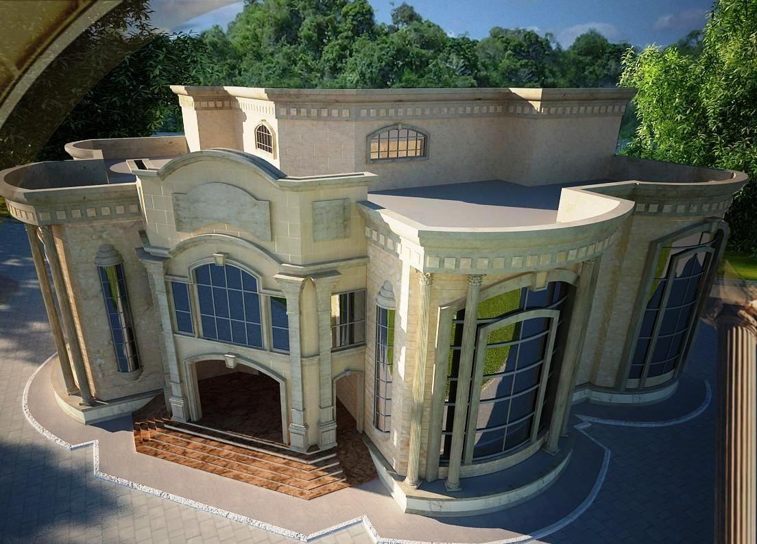 سلالم عريضة بواجهات الفلل الخليجية New House Plans House Floor Design Family House Plans