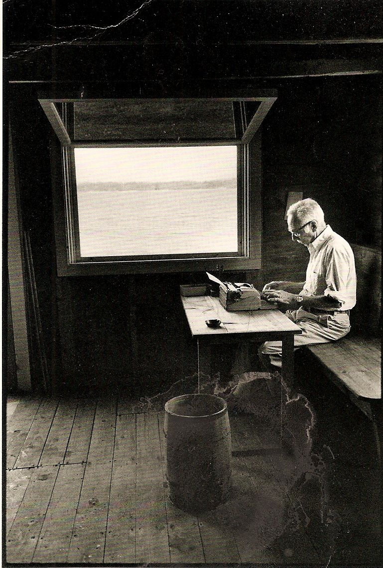 Eb White Writing In His Boat Shed Overlooking Allen Cove  Eb White Writing In His Boat Shed Overlooking Allen Cove Photographed By  Jill Krementz Narrative Essay Examples High School also Comparison Contrast Essay Example Paper  Essay About Healthy Eating