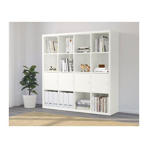 kallax tag re avec 4 accessoires blanc ikea ikea deco et bureau meuble. Black Bedroom Furniture Sets. Home Design Ideas