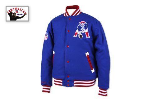 on sale e5c86 ba37f New England Patriots Mitchell & Ness Lifestyle Wool Jacket ...