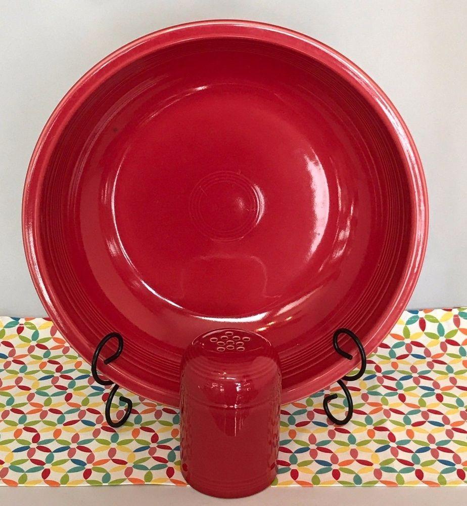 Fiestaware Scarlet Pasta Bowl And Cheese Shaker Set Fiesta Serving Fiestawarefiesta