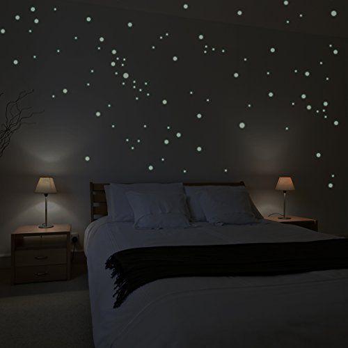 adh sifs muraux wandkings 250 pi ces points lumineux pour r aliser un ciel toil fluorescents. Black Bedroom Furniture Sets. Home Design Ideas