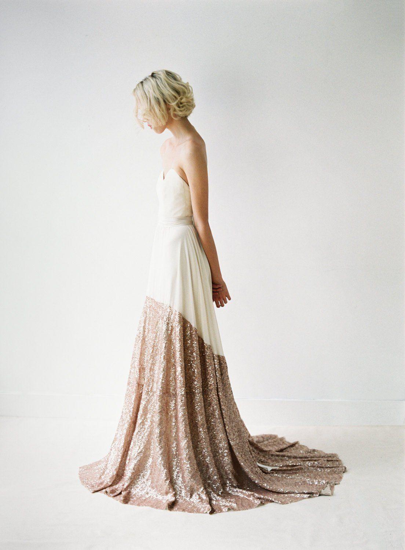 Sequined wedding dress   Incredible Sequin Wedding Dresses    Pinterest  Sequin