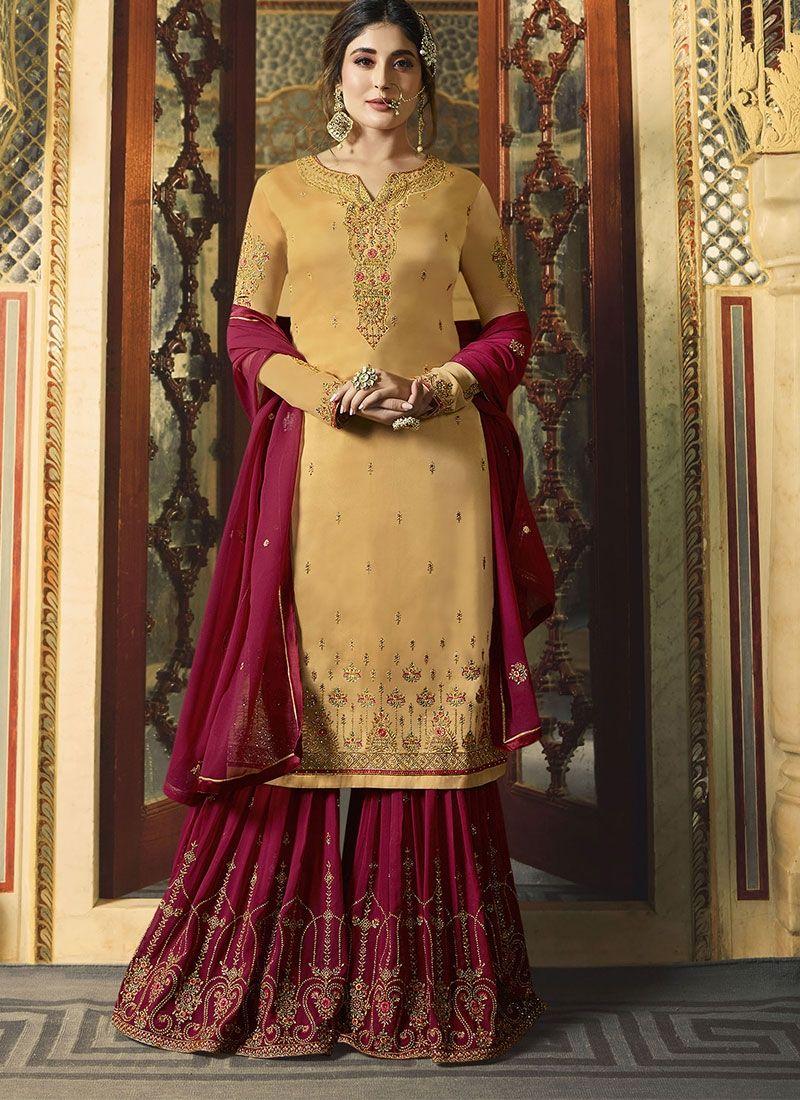 Details about  /SHARARA PLAZZO SALWAR KAMEEZ SUIT INDIAN WOMEN DESIGNER PAKISTANI WEDDING DRESS