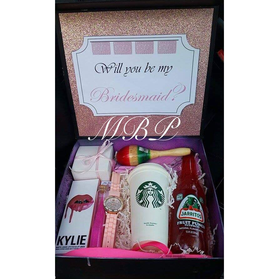Pink Bridesmaid Gift Box Mexican Wedding Each Is A Different Color And One Contains