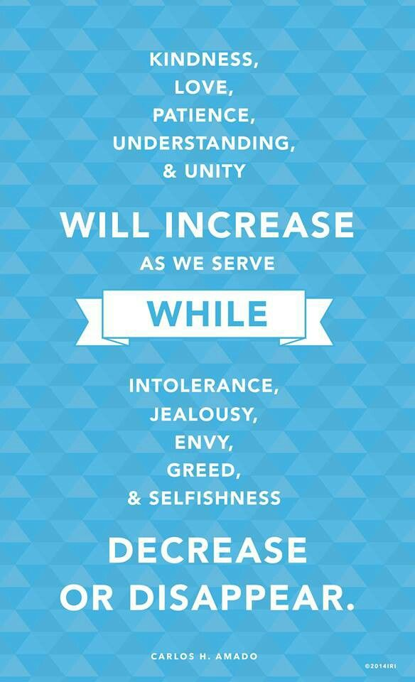 Love Will Increase as We Serve