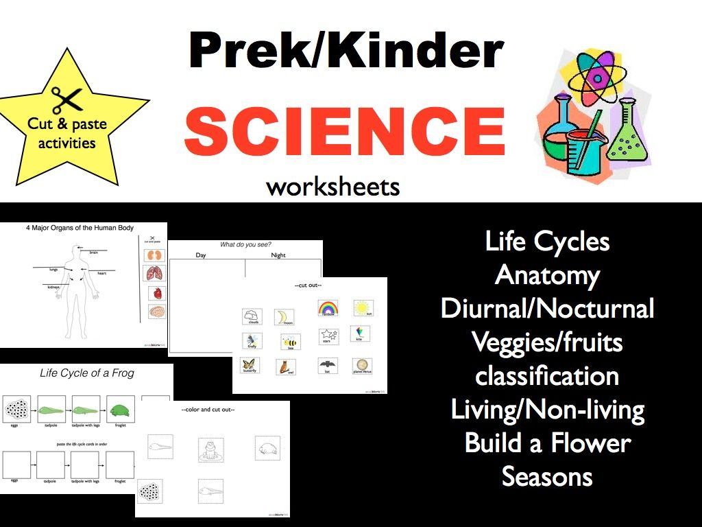 Science Worksheets For Todders Pre K And Kindergarten