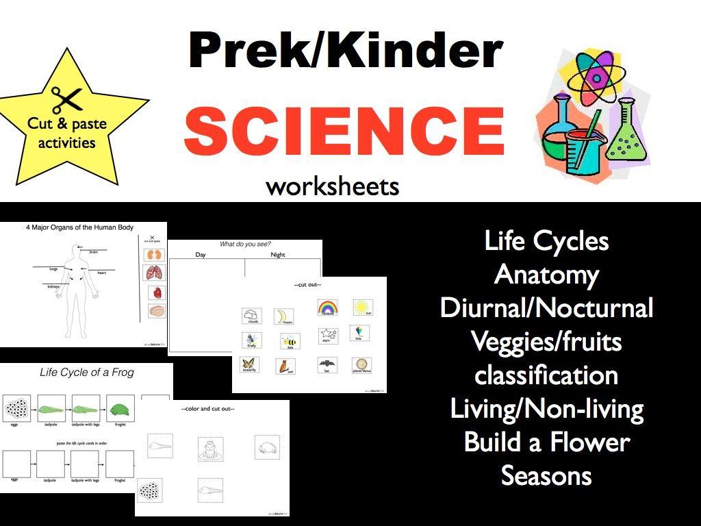 Science Worksheets For Todders Pre K And Kindergarten