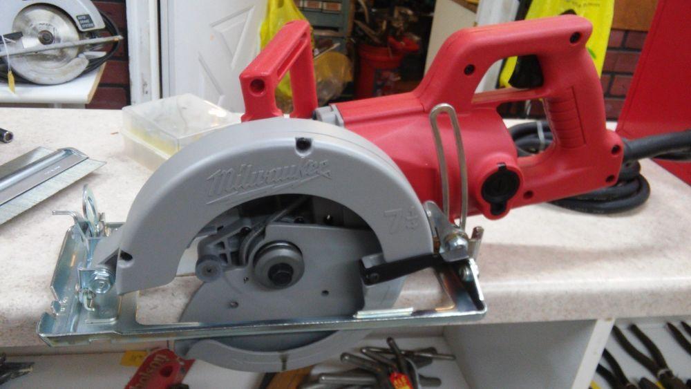 Milwaukee 6377 Worm Drive Circular Saw 7 1 4 15 Amp Left Blade Milwaukee Worm Drive Circular Saw Milwaukee Tools Worm Drive