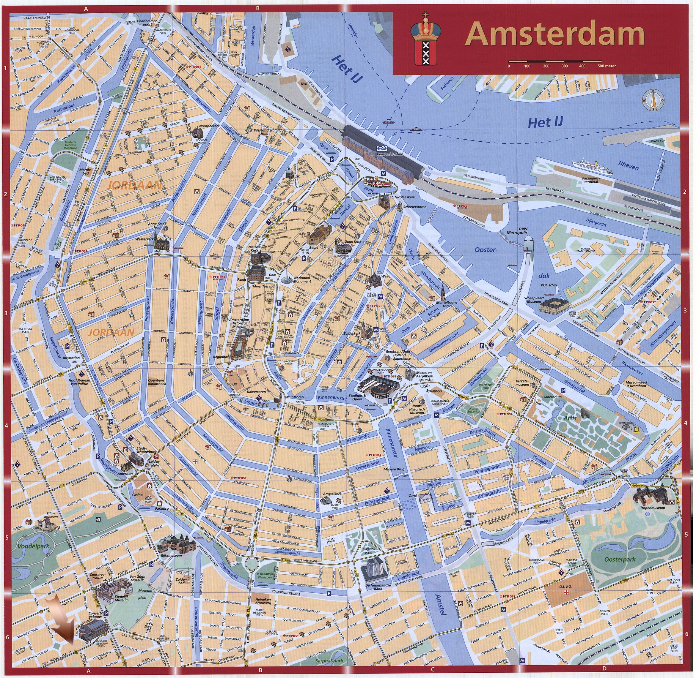 map of amsterdam | Amsterdam Map - Detailed City and Metro Maps of ...